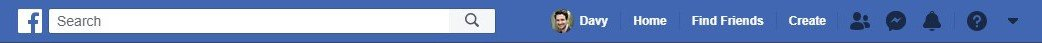 Old header of Facebook